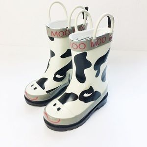 Toddler 5/6 Little Cow Moo Rain Boots